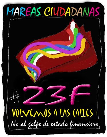 Cartel Mareas Unidas 23F